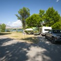 Typical campsite at Anderson Cove Campground.- Anderson Cove Campground + Swim Beach