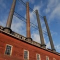 Power Plant at Kennecott Copper Mines National Historic Landmark.- Kennecott Copper Mines National Historic Landmark