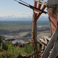 Bonanza Tramway at the top of the Concentration Mill at Kennecott Copper Mines National Historic Landmark.- Kennecott Copper Mines National Historic Landmark