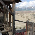 View from the top of the Concentration Mill at Kennecott Copper Mines National Historic Landmark.- Kennecott Copper Mines National Historic Landmark