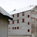 """View of the """"New"""" Bunkhouse (built in 1940) at Independence Mine State Historic Park.- Independence Mine State Historic Park"""