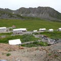 View from the top of Hard Rock Trail at Independence Mine State Historic Park.- Independence Mine State Historic Park