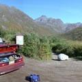 Reed Lakes and Snowbird Mine Trailhead.- Reed Lakes Trail