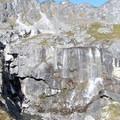 Waterfalls near Lower Reed Lake.- Reed Lakes Trail