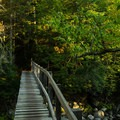 Fall-Bridge Over Johns Brook- Haystack, Basin + Saddleback Mountain Lasso Loop