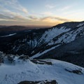 Winter-Sunset on Basin- Haystack, Basin + Saddleback Mountain Lasso Loop