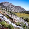A waterfall makes a great place to take a break along the hike.- Mount Rose Summit Trail