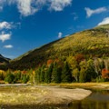 Marcy Dam in the fall.- Mount Marcy, Mount Skylight + Gray Peak Loop