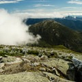 The summit of Mount Marcy in the fall.- Mount Marcy, Mount Skylight + Gray Peak Loop