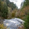 Lake Creek in Lane County.- Lake Creek Falls Recreation Site