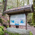 Information sign at Lake Creek Falls.- Lake Creek Falls Recreation Site