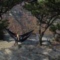View from one of the campsites.- Table Rock near the Linville Gorge Wilderness