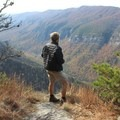The view from the midway point.- Table Rock near the Linville Gorge Wilderness