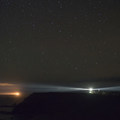 The lighthouse at night.- Cape Blanco Lighthouse