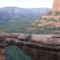 The view of Devils Bridge from the trail. - Devils Bridge
