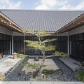 The traditional symmetry of Japanese architecture.- Morikami Japanese Gardens