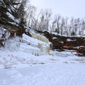 Apostle Islands Ice Caves on the shore of Lake Superior.- Apostle Islands Mainland Ice Caves