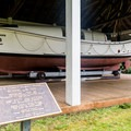 Nicely-preserved motor lifeboat. - Port Orford Coast Guard Station