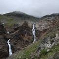 Small cascades along the Crow Pass Trail.- Crow Pass Trail Thru-Hike