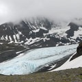 First view of Raven Glacier from Crow Pass.- Crow Pass Trail Thru-Hike