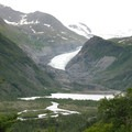 First view of Eagle Glacier from the Crow Pass Trail.- Crow Pass Trail Thru-Hike
