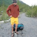 Recovering from the sharp sting that comes after fording sub-40 degree water.- Crow Pass Trail Thru-Hike