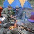 Camp along the Eagle River.- Crow Pass Trail Thru-Hike