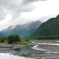 View of the Eagle River and flood plane.- Crow Pass Trail Thru-Hike
