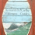 Old sign for the Kennicott-McCarthy Wilderness Guides.- Kennicott Glacier Lodge