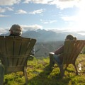 Relaxing at Kennicott Glacier Lodge.- Kennicott Glacier Lodge