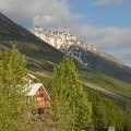 Kennicott Glacier Lodge with Bonanza Ridge in the background.- Kennicott Glacier Lodge