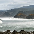 Wave action from the north beach.- Sisters Rock State Park