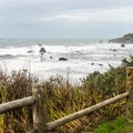 The view from the parking area is nice enough.- Otter Point State Recreation Site