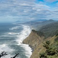 Magnificent views to the north along the Cape Sebastian Hike.- Cape Sebastian Trail Hike