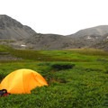 Backcountry campsite on the northern end of K'esugi Ridge.- Northern K'esugi Ridge via Little Coal Creek Trailhead