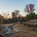 Curving along Noonday Creek.- Noonday Creek Trail