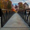 Newly opened bridge across one of the feeding creeks.- Murphy Candler Park