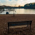 Benches all along the shore make for easy rest areas.- Murphy Candler Park