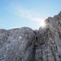 Typical Gran Sasso limestone.- Corno Grande of the Gran Sasso d'Italia