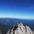 View of Corno Piccolo from Corno Grande.- Corno Grande of the Gran Sasso d'Italia