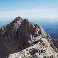 View from the Corno Grande summit.- Corno Grande of the Gran Sasso d'Italia