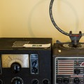 Period radio equipment on display.- Port Orford Coast Guard Station