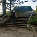 Several steps limit accessibility to the viewpoint.- House Rock Viewpoint