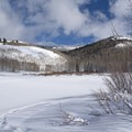 Willow Lake is under that snow. - Willow Heights Snowshoe