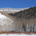 Looking toward Dry Lake and USA Bowl where you can find some great downhill terrain.- Willow Heights Snowshoe