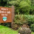 Campground entrance.- Alfred Loeb State Park Campground
