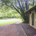 Restrooms and showers.- Alfred Loeb State Park Campground