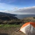 Del Norte campground looking toward the western part of the island.- Santa Cruz Island: Prisoner's Harbor to Scorpion Anchorage