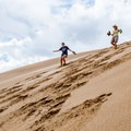 A fall can be dangerous, so be careful.- Kelso Sand Dunes