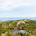 Looking at the Featherbed from above.- Cadillac Mountain South Ridge Trail